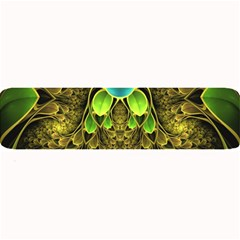 Beautiful Gold And Green Fractal Peacock Feathers Large Bar Mats