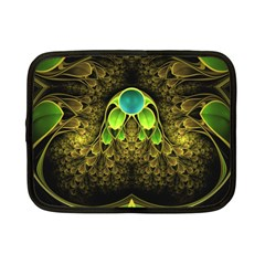 Beautiful Gold And Green Fractal Peacock Feathers Netbook Case (small)