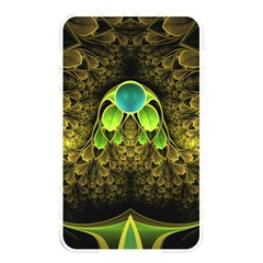 Beautiful Gold And Green Fractal Peacock Feathers Memory Card Reader