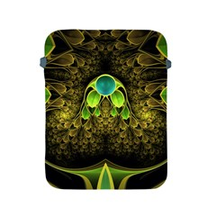 Beautiful Gold And Green Fractal Peacock Feathers Apple Ipad 2/3/4 Protective Soft Cases