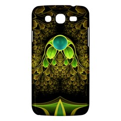Beautiful Gold And Green Fractal Peacock Feathers Samsung Galaxy Mega 5 8 I9152 Hardshell Case