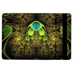 Beautiful Gold And Green Fractal Peacock Feathers Ipad Air 2 Flip