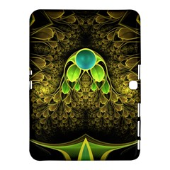 Beautiful Gold And Green Fractal Peacock Feathers Samsung Galaxy Tab 4 (10 1 ) Hardshell Case