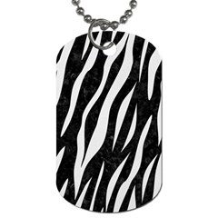 Skin3 Black Marble & White Linen (r) Dog Tag (two Sides)