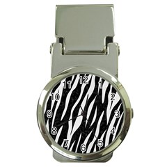 Skin3 Black Marble & White Linen (r) Money Clip Watches