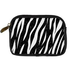 Skin3 Black Marble & White Linen (r) Digital Camera Cases