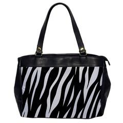 Skin3 Black Marble & White Linen (r) Office Handbags