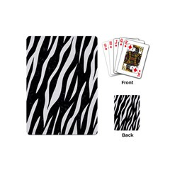 Skin3 Black Marble & White Linen (r) Playing Cards (mini)