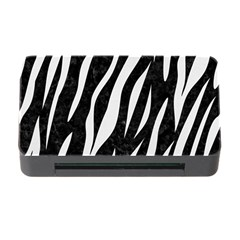 Skin3 Black Marble & White Linen (r) Memory Card Reader With Cf