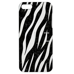 Skin3 Black Marble & White Linen (r) Apple Iphone 5 Hardshell Case With Stand
