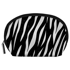 Skin3 Black Marble & White Linen (r) Accessory Pouches (large)