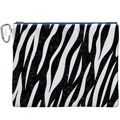 Skin3 Black Marble & White Linen (r) Canvas Cosmetic Bag (xxxl)
