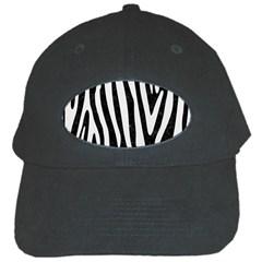 Skin4 Black Marble & White Linen Black Cap