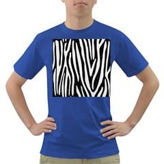 Skin4 Black Marble & White Linen Dark T Shirt