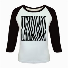 Skin4 Black Marble & White Linen Kids Baseball Jerseys