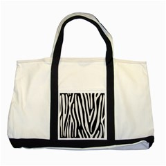 Skin4 Black Marble & White Linen Two Tone Tote Bag