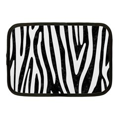 Skin4 Black Marble & White Linen Netbook Case (medium)
