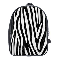 Skin4 Black Marble & White Linen School Bag (large)