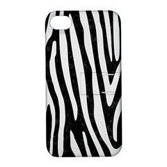 Skin4 Black Marble & White Linen Apple Iphone 4/4s Hardshell Case With Stand