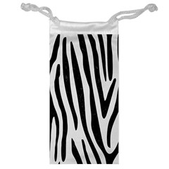 Skin4 Black Marble & White Linen (r) Jewelry Bag