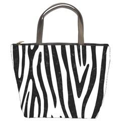 Skin4 Black Marble & White Linen (r) Bucket Bags