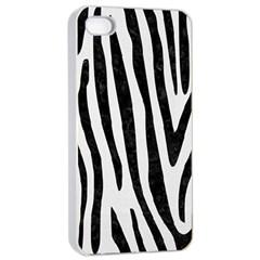 Skin4 Black Marble & White Linen (r) Apple Iphone 4/4s Seamless Case (white)
