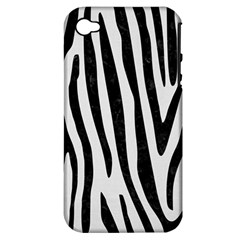 Skin4 Black Marble & White Linen (r) Apple Iphone 4/4s Hardshell Case (pc+silicone)