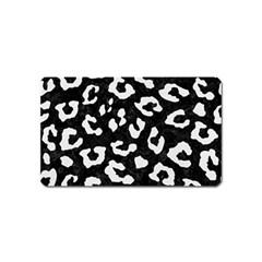 Skin5 Black Marble & White Linen Magnet (name Card)