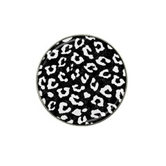 Skin5 Black Marble & White Linen Hat Clip Ball Marker (4 Pack)