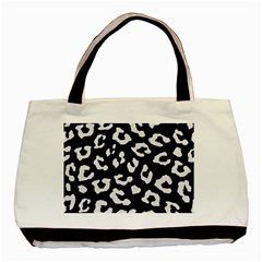 Skin5 Black Marble & White Linen Basic Tote Bag (two Sides)