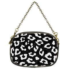 Skin5 Black Marble & White Linen Chain Purses (two Sides)
