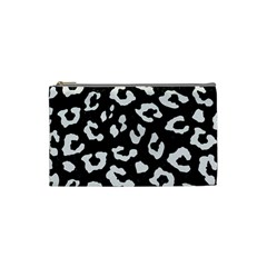 Skin5 Black Marble & White Linen Cosmetic Bag (small)