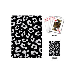 Skin5 Black Marble & White Linen Playing Cards (mini)