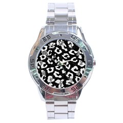 Skin5 Black Marble & White Linen Stainless Steel Analogue Watch