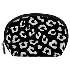 Skin5 Black Marble & White Linen Accessory Pouches (large)