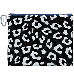 Skin5 Black Marble & White Linen Canvas Cosmetic Bag (xxxl)