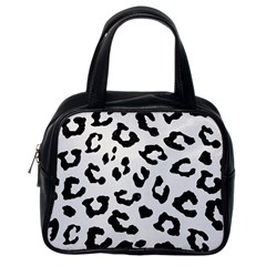 Skin5 Black Marble & White Linen (r) Classic Handbags (one Side)