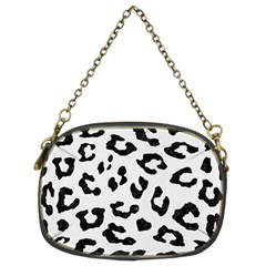 Skin5 Black Marble & White Linen (r) Chain Purses (two Sides)