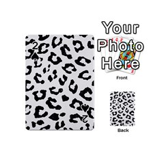 Skin5 Black Marble & White Linen (r) Playing Cards 54 (mini)