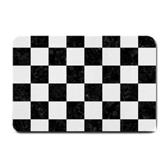 Square1 Black Marble & White Linen Small Doormat
