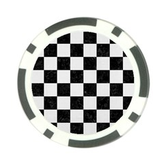 Square1 Black Marble & White Linen Poker Chip Card Guard