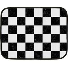 Square1 Black Marble & White Linen Fleece Blanket (mini)