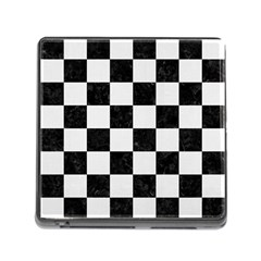 Square1 Black Marble & White Linen Memory Card Reader (square)