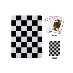 Square1 Black Marble & White Linen Playing Cards (mini)