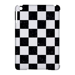 Square1 Black Marble & White Linen Apple Ipad Mini Hardshell Case (compatible With Smart Cover)