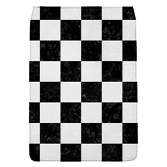 Square1 Black Marble & White Linen Flap Covers (s)