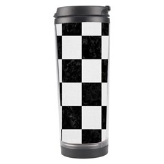 Square1 Black Marble & White Linen Travel Tumbler