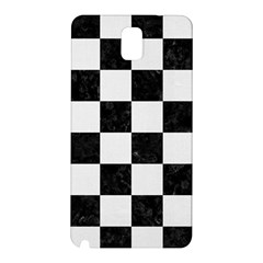Square1 Black Marble & White Linen Samsung Galaxy Note 3 N9005 Hardshell Back Case
