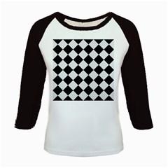 Square2 Black Marble & White Linen Kids Baseball Jerseys