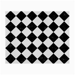 Square2 Black Marble & White Linen Small Glasses Cloth (2 Side)